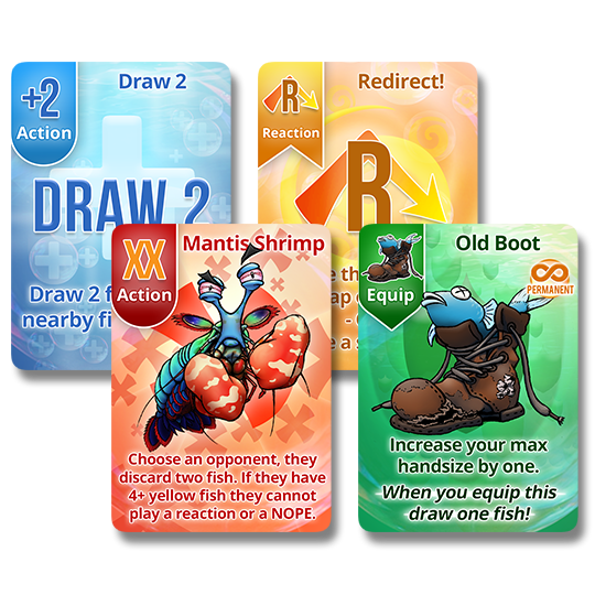 Fish Cards - Colors Front